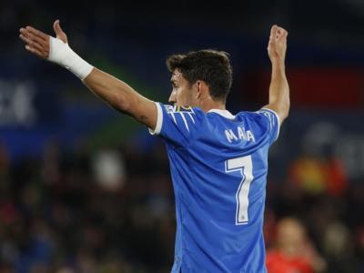 Liga 2020: Getafe-Real Sociedad 2-1, una doppietta di Mata decide il match al Coliseum Alfonso Perez