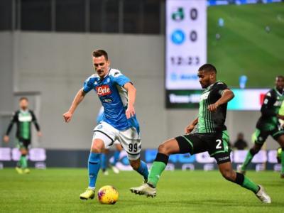 LIVE Napoli-Sassuolo 2-0, Serie A calcio in DIRETTA: apre Hysaj, chiude Allan, gli azzurri di Gattuso hanno la meglio dei neroverdi. Pagelle e highlights