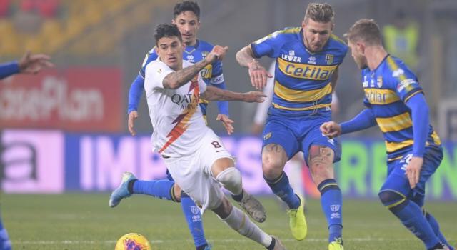 LIVE Roma-Parma 2-1, Serie A calcio in DIRETTA: Mkhitaryan e Veretout ribaltano il rigore di Kucka in apertura. Pagelle e highlights