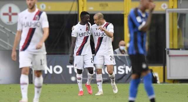 Calcio, il Bologna espugna San Siro in rimonta per 1-2 contro l'Inter nella 30ma giornata della Serie A 2020