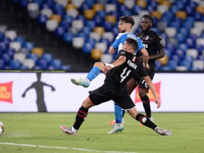 Calcio, Serie A 2020: Napoli-Milan 2-2. I rossoneri si salvano nel finale dal dischetto