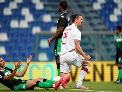 VIDEO Sassuolo-Milan 1-2: highlights, gol e sintesi. Decisiva la doppietta di Ibrahimovic