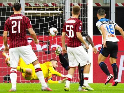 Calcio, Serie A 2020: Milan-Atalanta 1-1. Donnarumma respinge un rigore, gol di Calhanoglu e Zapata