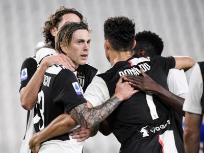 Juventus Campione d'Italia: i bianconeri vincono il nono scudetto di fila. 2-0 alla Samp, segna Cristiano Ronaldo