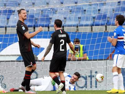 VIDEO Sampdoria-Milan 1-4: highlights, gol e sintesi. Decisivo Ibrahimovic