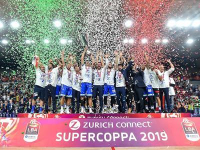 Basket: Supercoppa Italiana 2020, si parte il 27 agosto. Le 16 squadre suddivise in 4 gironi, Final Four a Bologna