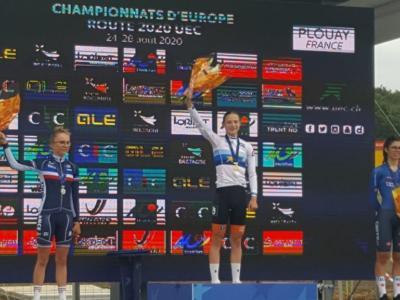 Ciclismo, Campionati Europei 2020: Carlotta Cipressi regala subito un bronzo splendido all'Italia