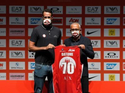 """Gigi Datome, la presentazione all'Olimpia Milano: """"Motivato nell'essere qui. Voglio vincere con una squadra italiana"""""""