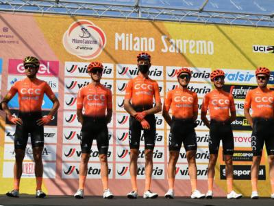 Milano-Sanremo 2020: caduta e ritiro per Matteo Trentin