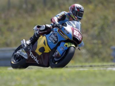 Moto2, risultato warm-up GP Aragon 2020: Sam Lowes il migliore, Marco Bezzecchi 4°  e Luca Marini 6°. Bastianini indietro