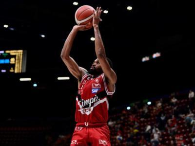 Basket, Serie A 2020-2021: tutto facile per l'Olimpia Milano contro la Fortitudo, Treviso cade contro Cantù