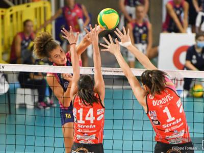 Volley femminile, Champions League 2020-2021 preliminari. Tutto facile per Scandicci con le campionesse serbe (3-0)