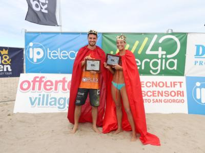 Beach volley, King e Queen of the Beach 2020. Michela Lantignotti e Davide Benzi regina e re della sabbia a Civitanova