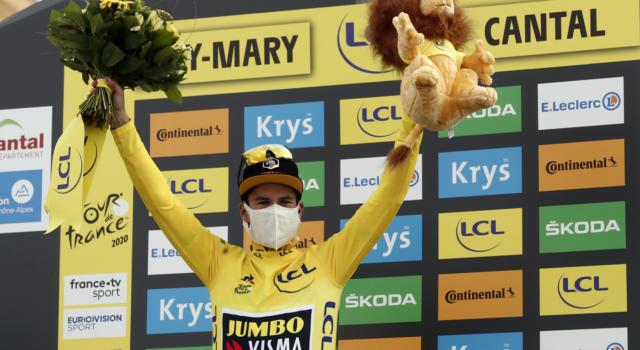 Tour de France 2020, la nuova classifica dopo il ritiro di Bardet: Roglic maglia gialla, Damiano Caruso 15mo
