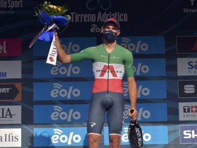 """Tirreno-Adriatico 2020, Filippo Ganna: """"Bellissimo battere il record di Cancellara. Mi spiace per Thomas"""""""