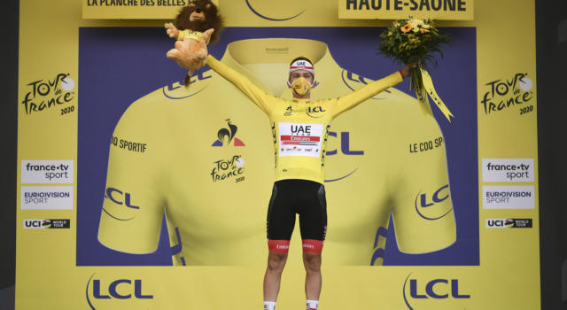 Classifica Tour de France 2020: Tadej Pogacar si prende la maglia gialla! 10° Damiano Caruso, sprofonda Lopez