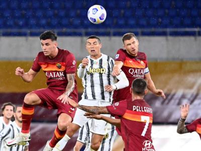 VIDEO Roma-Juventus 2-2, Highlights, gol e sintesi: doppiette di Cristiano Ronaldo e Veretout, i bianconeri si salvano all'Olimpico