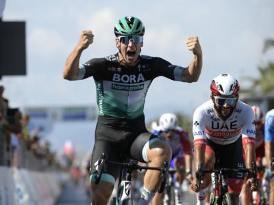 Pagelle Tirreno-Adriatico 2020, prima tappa: volata superlativa di Ackermann, a Gaviria costa caro un piccolo errore