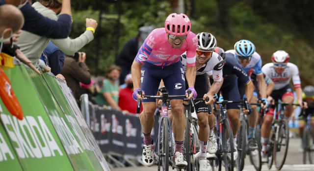 """Vuelta a España 2020, Michael Woods: """"Non mi aspettavo di andare in fuga. Non tiravo per proteggere Carthy"""""""
