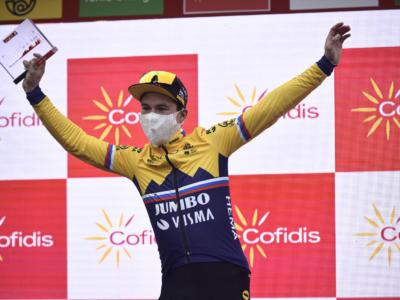 Vuelta a España 2020, tutte le classifiche dopo la 13ma tappa: Roglic maglia rossa e verde, Martin maglia a pois