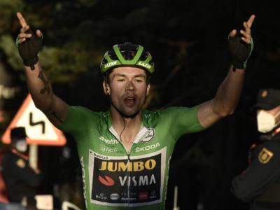 Vuelta a España 2020, Primoz Roglic concede il tris a Suances e torna in testa. Terzo Andrea Bagioli