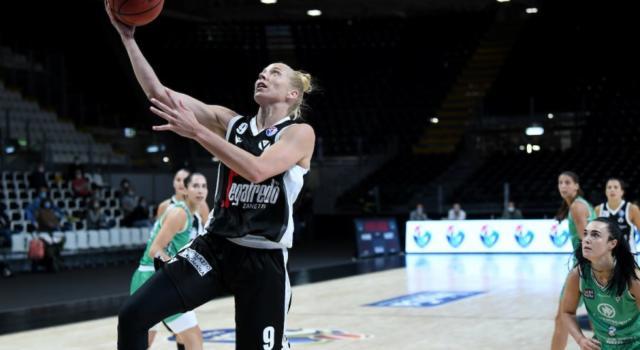 Basket femminile, Serie A1 2020-2021: Virtus Bologna a punteggio pieno, battuta Ragusa col duo Bishop-Begic e Battisodo decisiva