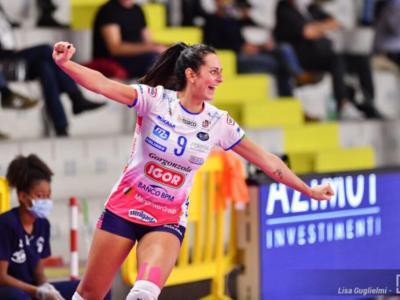 Volley femminile, Serie A1: ottava giornata. Novara risponde a Conegliano, Monza batte Bergamo