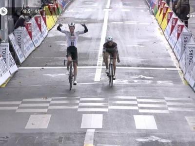 Parigi-Tours 2020: Casper Pedersen batte in una volata a due Benoit Cosnefroy