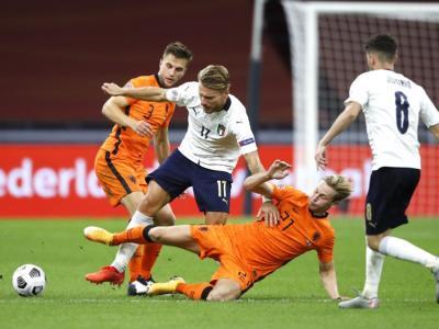 Pagelle Italia-Olanda 1-1, voti Nations League 2020: Immobile sprecone, Chiellini è un gigante. Frenkie De Jong illumina, male Verratti e Jorginho