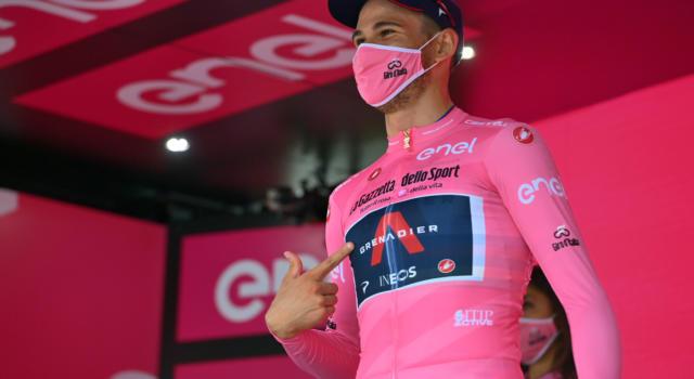 """Classifica Giro d'Italia 2020, seconda tappa: Filippo Ganna in maglia rosa. Geraint Thomas il miglior big, Nibali a 1'06"""""""