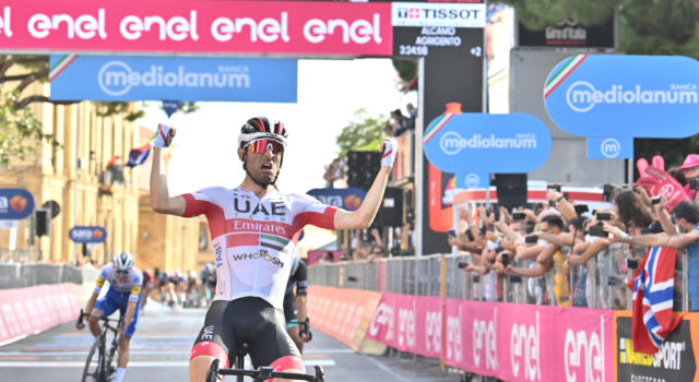 Pagelle Giro d'Italia 2020, tappa di oggi: Diego Ulissi perfetto, Peter Sagan ci prova. Buoni segnali da Nibali