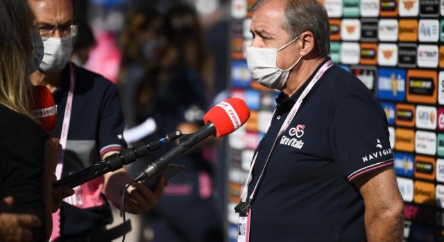 """Giro d'Italia 2020, Mauro Vegni: """"I team con positività verranno ricontrollati giovedì. Arrivare a Milano a tutti i costi"""""""