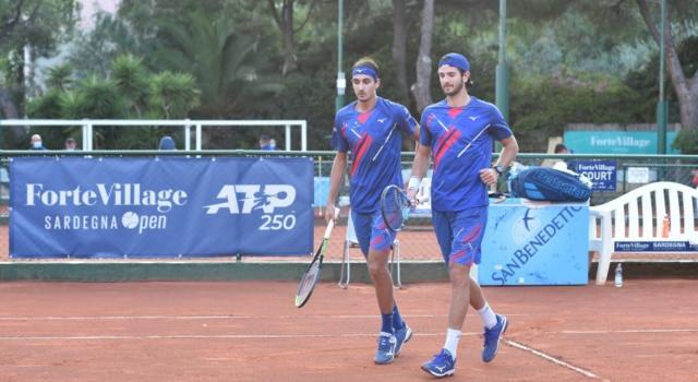 Tennis, ATP Sardegna 2020: Lorenzo Sonego e Andrea Vavassori battono Fabio Fognini e Lorenzo Musetti nel primo turno di doppio