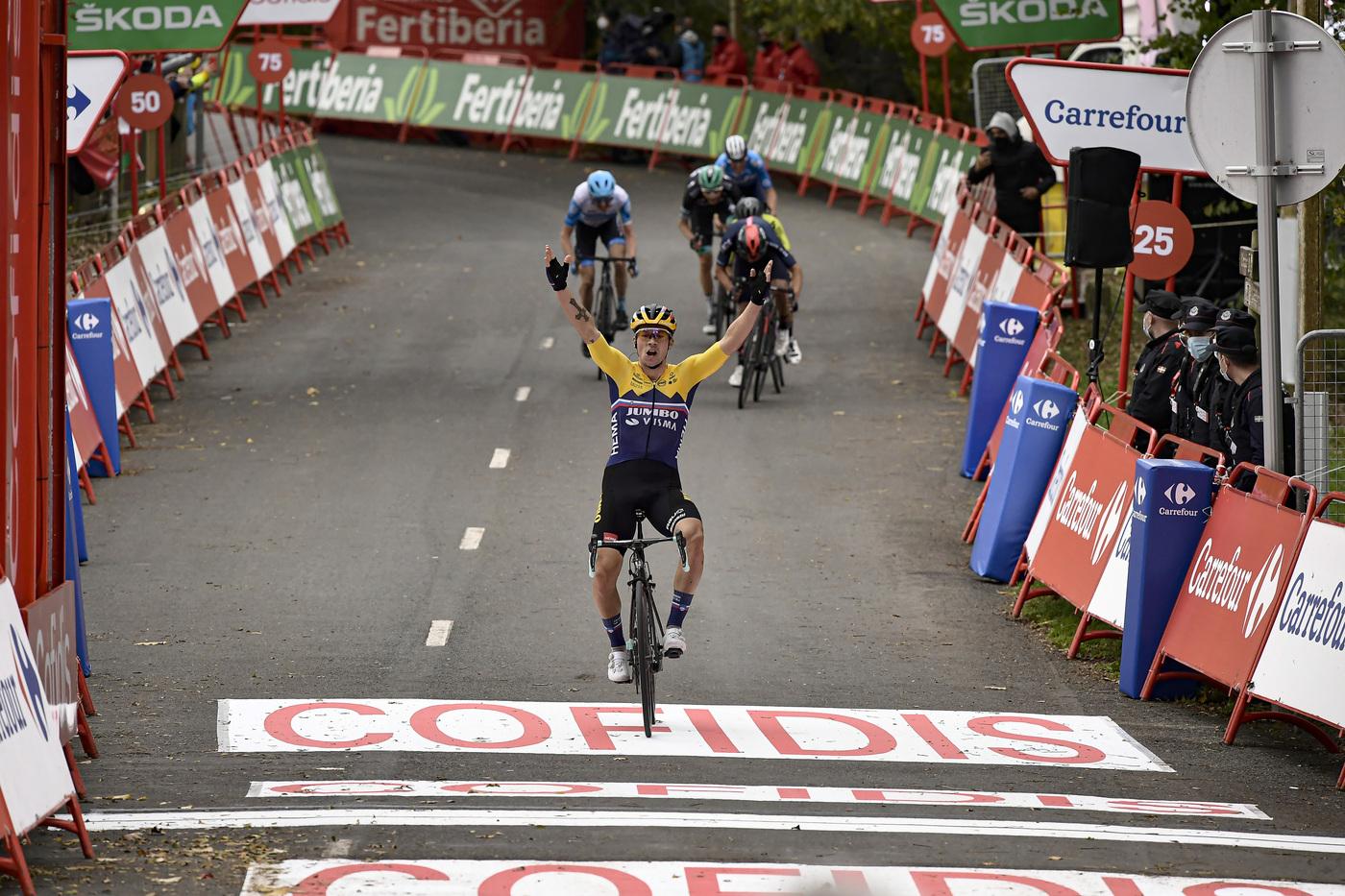 """Vuelta a España 2020, Primoz Roglic: """"E' bellissimo vincere. Non conoscevo l'ultima salita ho seguito le mie sensazioni"""""""