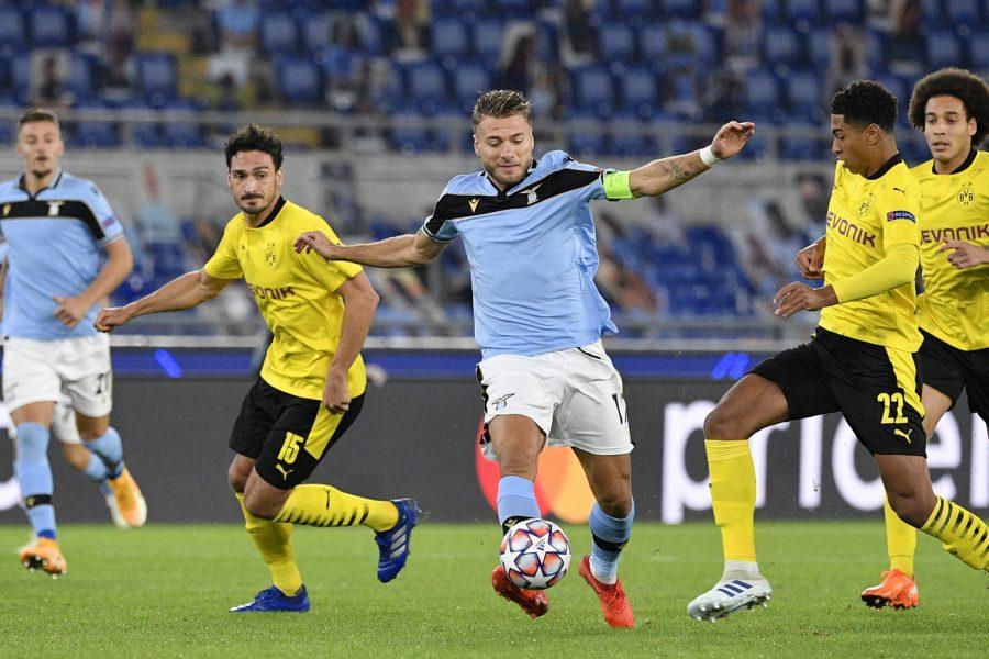 Calcio, Champions League 2020 2021: Lazio Borussia Dortmund 3 1. Grande esordio europeo dei capitolini