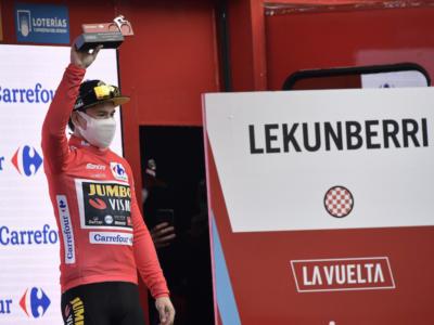 """Vuelta a España 2020, Primoz Roglic: """"Anche oggi è arrivato un bel risultato. La Movistar è davvero forte"""""""