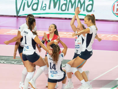 Volley femminile, Serie A1: 7ma giornata. Bergamo supera Perugia: 3 punti d'oro per la salvezza