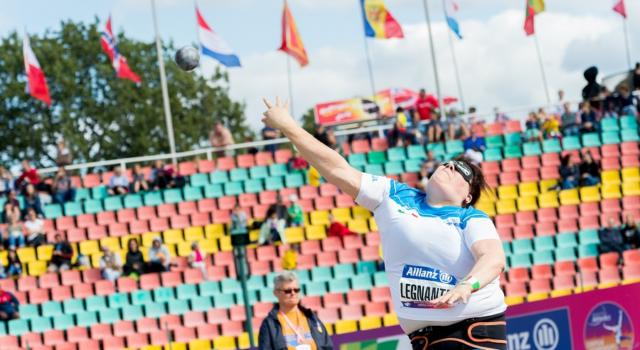 Atletica paralimpica: grave infortunio al tendine d'Achille per Assunta Legnante.