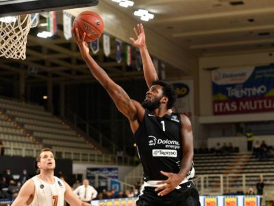 Basket, EuroCup 2020-2021: Trento domina contro Patrasso, Venezia cade a Belgrado