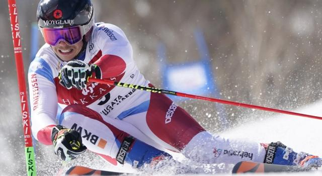 Sci alpino, Gino Caviezel in testa dopo la prima manche a Soelden. De Aliprandini a caccia del podio