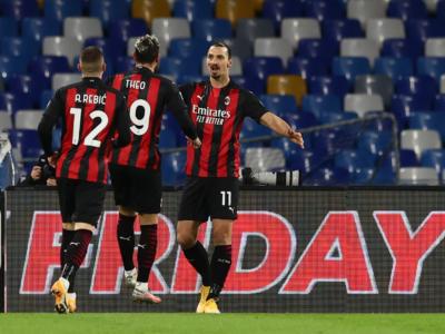 Napoli-Milan 1-3, Serie A: i rossoneri espugnano il San Paolo con la doppietta di Ibrahimovic. In testa al campionato