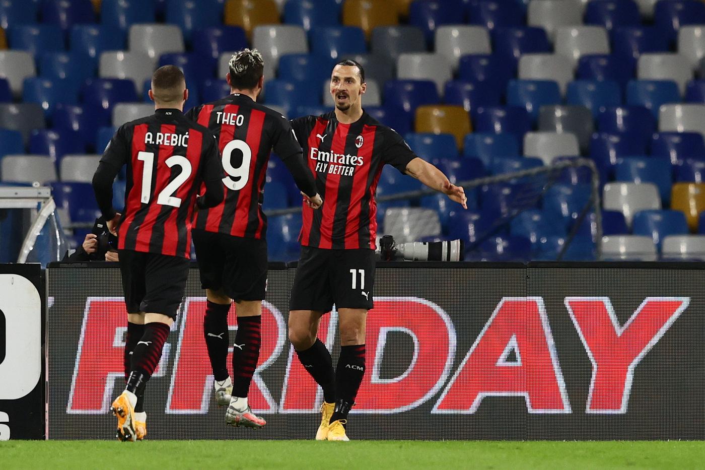 Napoli-Milan 1-3 |  Serie A |  i rossoneri espugnano il San Paolo con la doppietta di Ibrahimovic  In testa al campionato