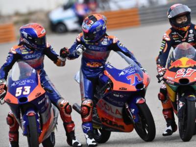Moto3, risultati warm-up GP Valencia 2020: regna l'equilibrio nella classe più leggera, Ayumu Sasaki brucia Vietti, Arenas 4°