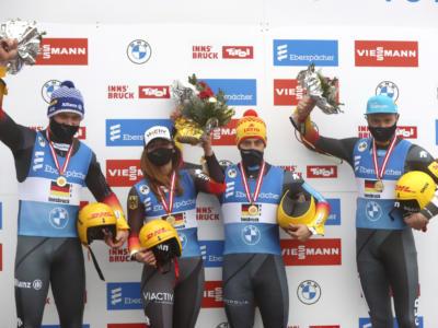 Slittino, Coppa del Mondo Oberhof 2020: Italia quarta ad otto millesimi dal podio nel team relay, vince la Germania