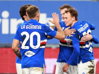 Serie A calcio, la Sampdoria batte il Crotone 3-1. Fiorentina-Verona 1-1 di rigore