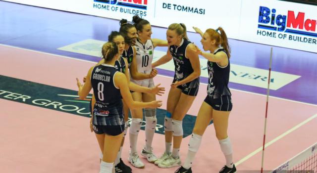 Volley femminile, Serie A1: Chieri travolge Bergamo nel recupero e rafforza il quinto posto