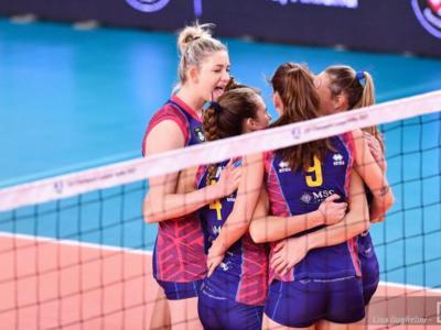 Volley femminile, Serie A1: Scandicci batte Trento e sale al quarto posto, Busto Arsizio mette Novara ko