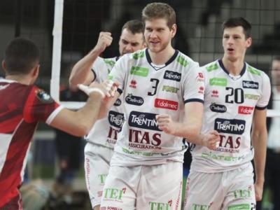 Volley, Trento travolge il Friedrichshafen e infila la terza vittoria in Champions League: primo posto nel girone