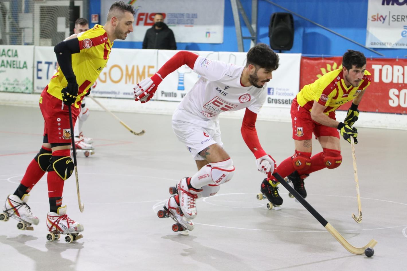 Hockey pista, Serie A1: nel recupero della 4a giornata, Grosseto passa nettamente a Scandiano