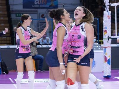 Volley femminile, Serie A1: Casalmaggiore batte Bergamo al tie-break nel derby lombardo